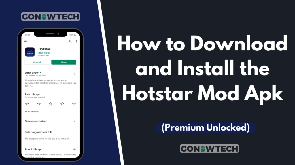 How to Download and Install the Hotstar Mod Apk